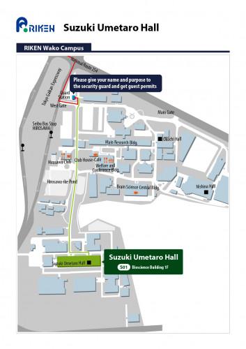 Suzuki Umetaro Hall Access Map 2
