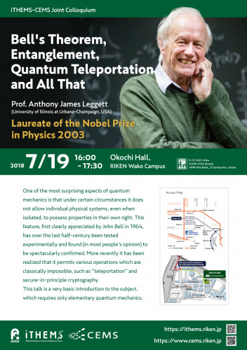 Bell's Theorem, Entanglement, Quantum Teleportation and All That Poster