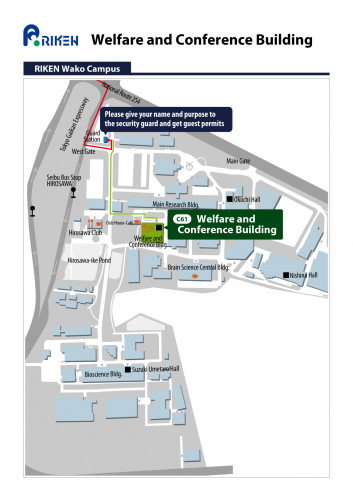 Large Meeting Room, 2F Welfare and Conference Building (Cafeteria) Access Map 2