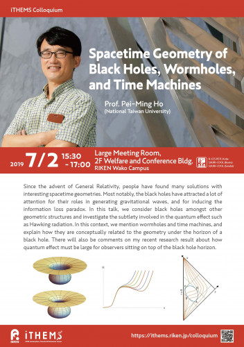 Spacetime Geometry of Black Holes, Wormholes, and Time Machines Poster