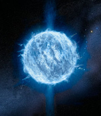An artist's impression of a neutron star.