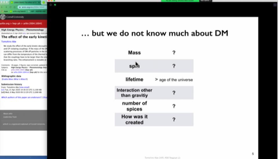 Dark Matter Working Group Seminar on June 12, 2020 image