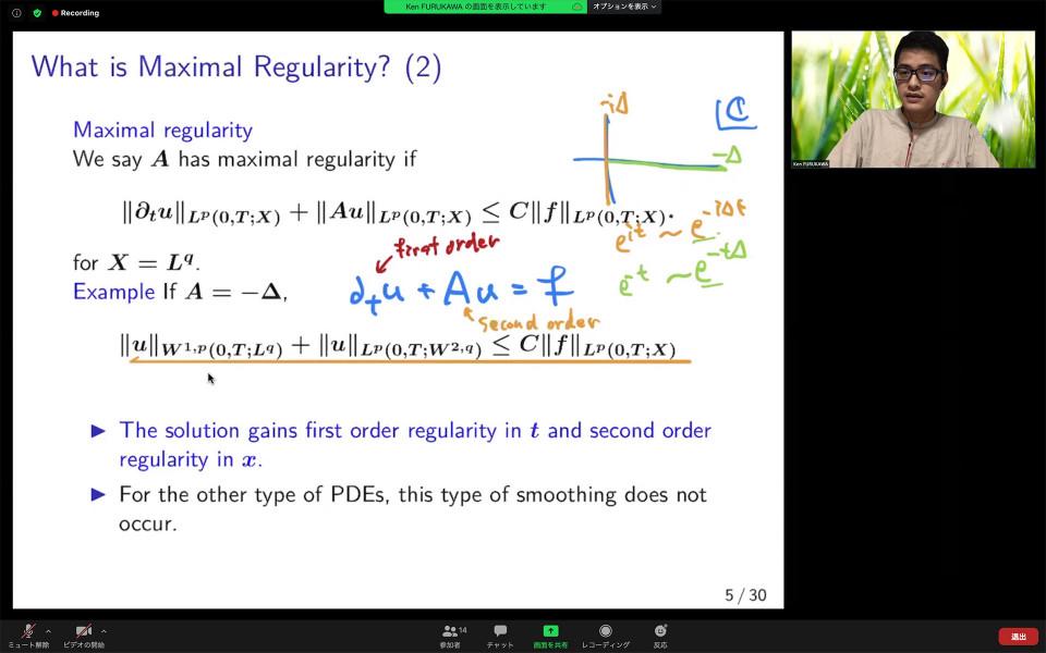 Math Seminar by Dr. Ken Furukawa on September 8, 2020