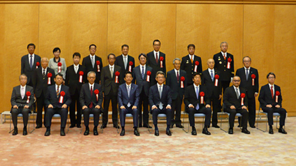 """Takemasa Miyoshi received """"Commendation by the Prime Minister for Disaster Prevention (2020)"""""""
