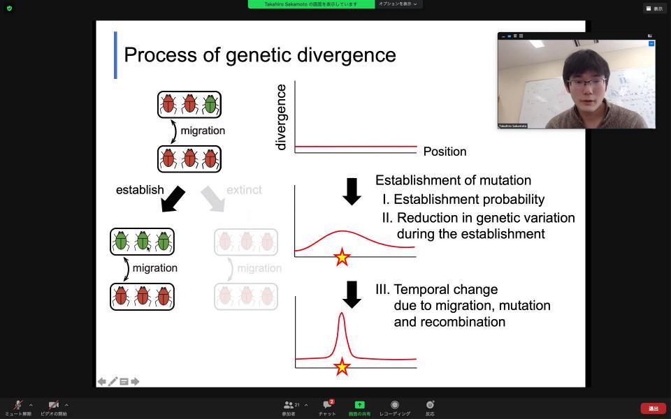 Biology Seminar by Dr. Takahiro Sakamoto on November 5, 2020 image