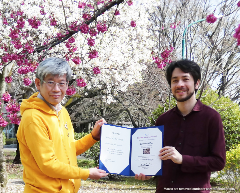 Dr. Jeffery Fawcett received 12th annual RIKEN Research Incentive Award (Ohbu Award) image