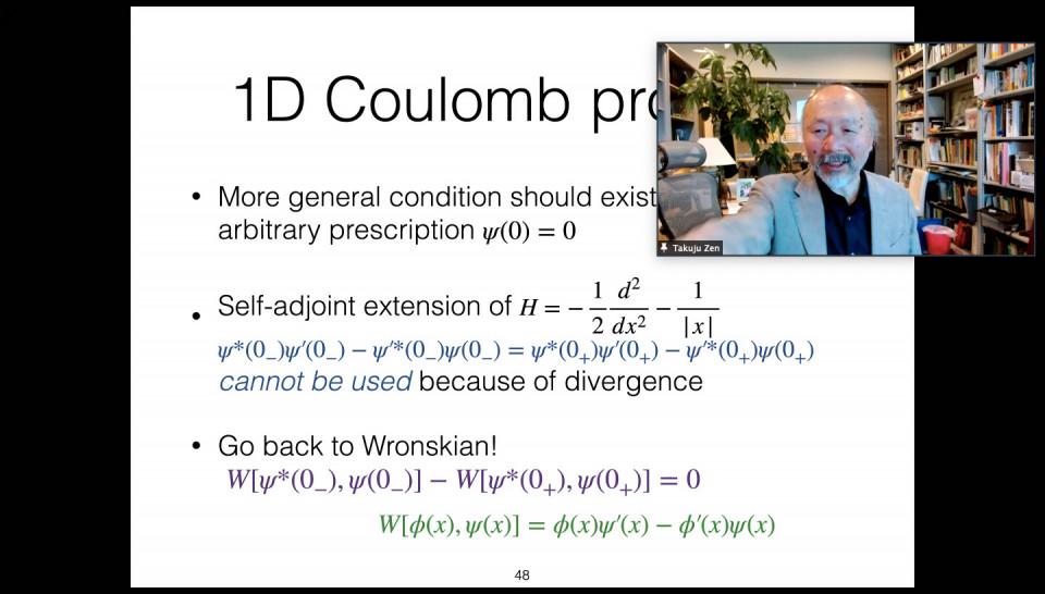 Math-Phys Joint Seminar by Prof. Takuju Zen on April 13, 2021 image